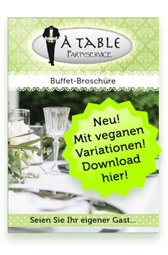 À Table Büffetbroschüre
